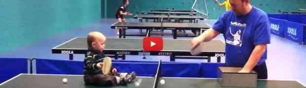Čudo od djeteta: Ovo je budući šampion u stonom tenisu