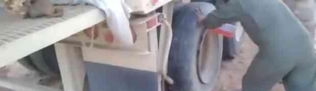 VIDEO: Kako za manje od sekunde napuhati gumu kamiona?