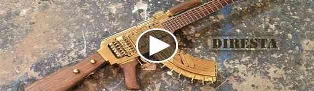 Pogledajte kako ovaj čovjek pravi AK47 gitaru (VIDEO)