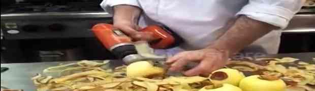 Ovaj majstor će vam pokazati kako da ogulite vreću jabuka za samo 1 minut! (VIDEO)
