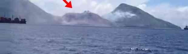 Ploveći pokraj planine, snimili su spektakularan prizor kakav se rijetko viđa!