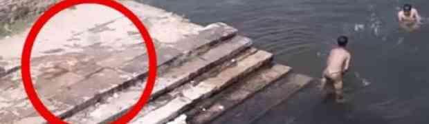 Dva dječaka su se igrala u jezeru, ali kada vidite šta je skočilo u vodu za njima, zanijemit ćete (VIDEO)