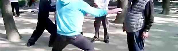 Htio je da starcu na ulici pokaže neke svoje karate poteze, a onda ga je ČIČA OSRAMOTIO! (VIDEO)