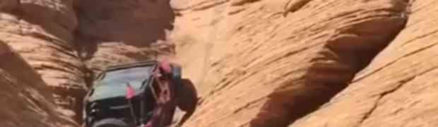Sjeo je u džip, a onda krenuo da se penje uz okomitu stijenu. Ovako nešto nikad nisam vidio! (VIDEO)