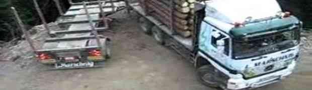 Ovaj vozač kamiona je izveo nemoguće (VIDEO)