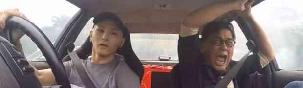 Sin ga je pozvao da se malo provoza u njegovom novom autu. Bila je to najveća greška koju je napravio! (VIDEO)