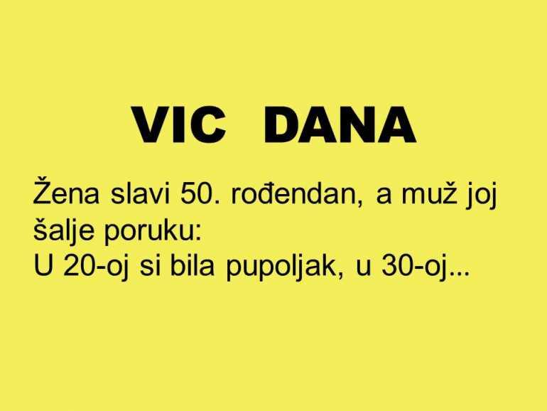 pedeseti rođendan VIC DANA: Slavi žena 50 ti rođendan ← Ludo do bola! pedeseti rođendan