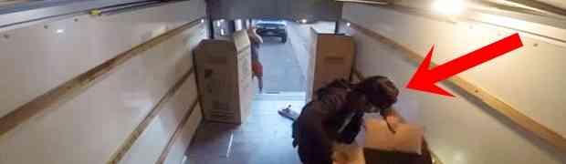 Ušli su u prikolicu kamiona da ukradu robu koja se nalazila unutra... BOLJE DA NISU! (VIDEO)