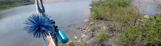 Uzeo je luk i ispalio strijelu u jezeru... DA LI JE MOGUĆE DA OVO ZAISTA RADI?! (VIDEO)