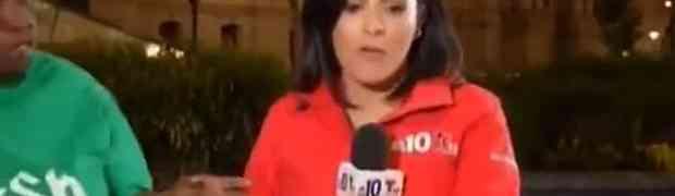 Lijepa latino voditeljica javljala se uživo u vijestima kada joj je prišla debela crnkinja. Ono što će uslijediti šokiralo je sve pored TV ekrana!