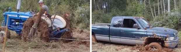 Htio je traktorom da izvuče prijateljev kamionet koji je zapao u dubokom blatu. Nije ni sanjao da će mu se dogoditi OVO! (VIDEO)