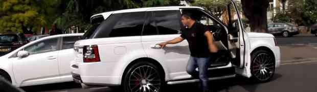 Odlučio je da ulazi u tuđe automobile, pa dobio batine! Pogledajte šta mu je uradio tip iz bijelog Range Rovera! (VIDEO)