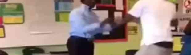 Učenik je napao profesora i udario ga bokserom u glavu. Njegov odgovor šokirao je sve u učionici! (VIDEO)