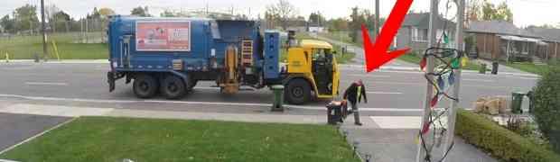 Ispred njegove kuće zaustavio se smećarski kamion. Nije mogao vjerovati šta će URADITI SMEĆAR... (VIDEO)