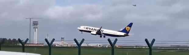 Zastrašujući snimak neuspješnog slijetanja aviona tokom oluje na aerodromu u Irskoj (VIDEO)