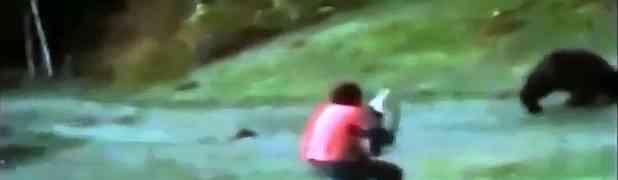 Izašao je vani da otjera grupu medvjedića iz dvorišta. KAKVA GREŠKA! (VIDEO)