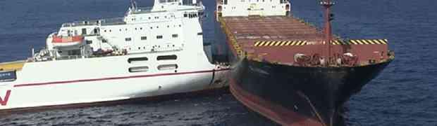 KAKO SE OVO MOGLO DOGODITI?! Dva ogromna tankera sudarila se nasred Sredozemnog mora (VIDEO)