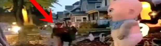 Maskirani muškarac htio je da preplaši dijete na cesti. OVOME SE NIJE NADAO... (VIDEO)